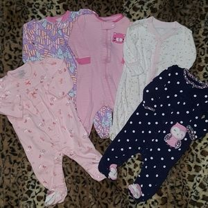 3-6 month cotton sleepers